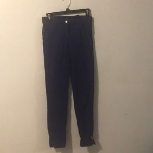 H&M's Velvet navy blue pants.